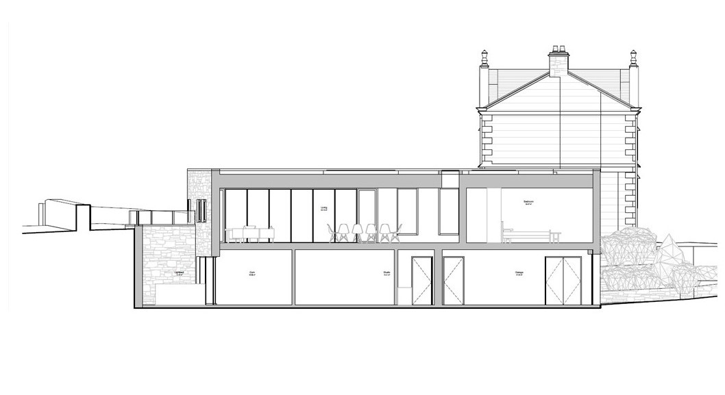 Thickwood Lodge - rear elevation