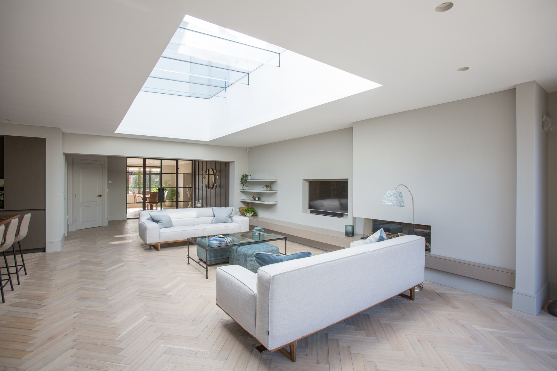 Living space with rooflight